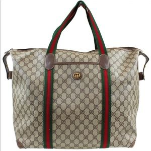 Authentic GUCCI GG Boston Handbag